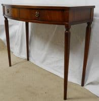 Bowfront Mahogany Two Drawer Side Table - SOLD
